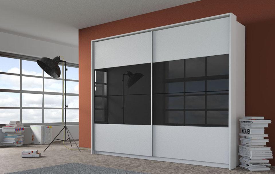wizualizacje mebli szafy dwudrzwiowej w kolorze białym