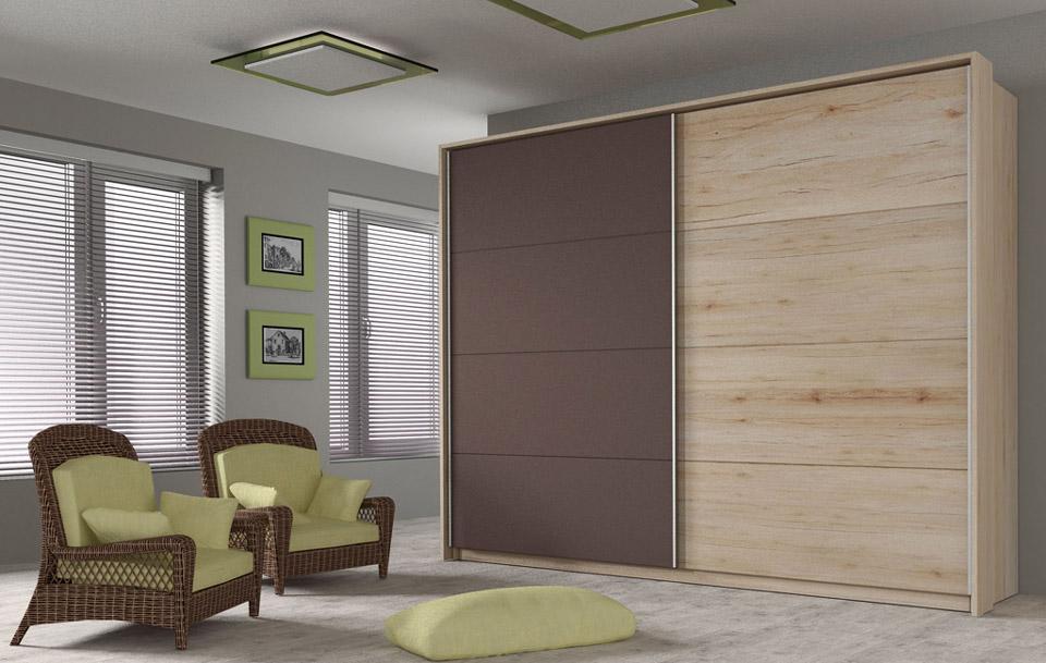 wizualizacje mebli szafy dwudrzwiowej z frontami przesuwnymi